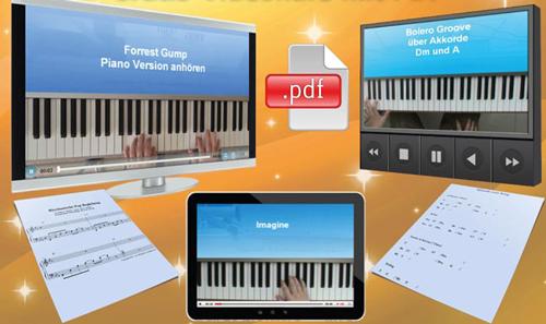 Lerne frei Klavier spielen im Gratis-Videokurs mit PDF